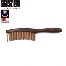 NAT E9837 Natural High Quality Anti Static Premium Wooden Comb