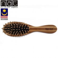 NAT BW8 Natural Bamboo Wood High Quality Wooden Comb Paddle Brush