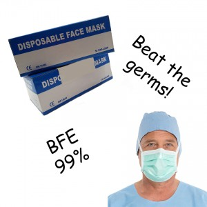 3 Ply Ear Loop Surgical Medical Anti-Haze Face Mask Mouth (50 Pieces Per Box)