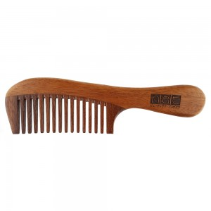 NAT 9834 Natural Red Sandalwood High Quality Anti Static Wooden Comb