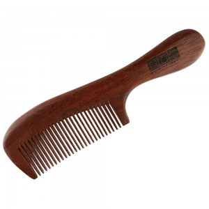 NAT 9833 Natural Gold Sandalwood High Quality Anti Static Wooden Comb