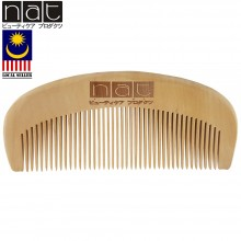 NAT 9832 Natural Gold Peach Wood High Quality Anti Static Wooden Comb