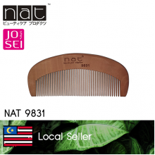 NAT 9831 NATURAL GOLD PEACH WOOD HIGH QUALITY ANTI STATIC WOODEN COMB