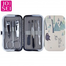 NC78 Professional 7 Piece Manicure & Pedicure Set With Forest Case