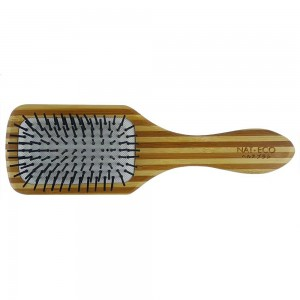 NAT BW14 Natural Bamboo Wood High Quality Wooden Comb Paddle Brush