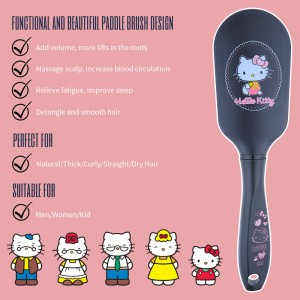 NAT HKBP02 Authentic Original Hello Kitty High Quality Comb Paddle Brush