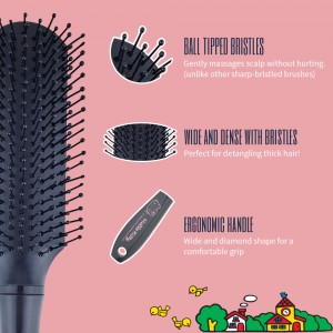 NAT HKBP03 Authentic Original Hello Kitty High Quality Comb Paddle Brush