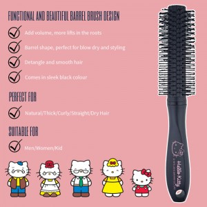 NAT HKBP04 Authentic Original Hello Kitty High Quality Comb Barrel Brush