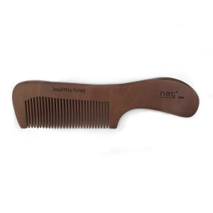NAT 9809 NEW NATURAL HIGH QUALITY ANTI STATIC WOODEN COMB THIN