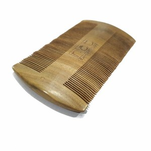 NAT 9849 NEW NATURAL HIGH QUALITY ANTI STATIC DOUBLE SIDED WOODEN COMB