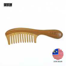 NAT 9840 NEW NATURAL HIGH QUALITY ANTI STATIC WOODEN COMB