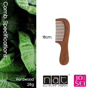 NAT 9850 NATURAL HIGH QUALITY ANTI STATIC PEACH WOOD WIDE TOOTH COMB