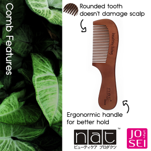 NAT COMBO SET 5 NATURAL HIGH QUALITY ANTI STATIC BRUSH AND COMB 9829 + BW10